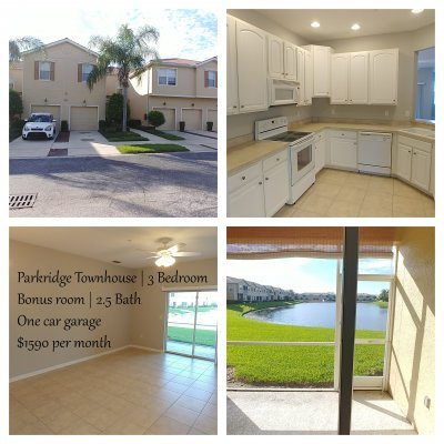 Parkridge 2-Story Townhouse | 3 bedroom | 2.5 bath | Bonus Room and Pond View | 1-Car Garage